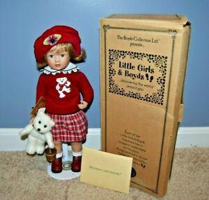 Boyds Bear Little Girls & Boyds Jill W/Tumbles Up The Hill Porcelain Doll EUC