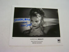 Pretty American Beauty Actress Mena Suvari 8X10 Authentic Autographed Photo