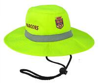 2018 State of Origin QLD Queensland Maroons High Vis Work Sun Safety Hat Cap