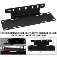 Car Front Bumper License Plate Mount Bracket Holder for Offroad LED Light Bars