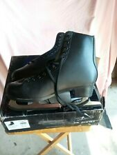 American Mens 552 Tricot Lined Figure Skate Black Size 11 M Lace Up Skating Rink