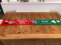 RARE Manchester United and Ireland Half and Half Football Supporter Scarf - GF