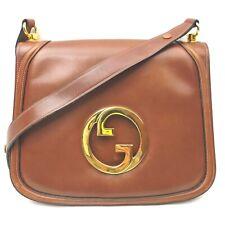 Vintage Gucci Shoulder Bag  Browns Leather 1712264