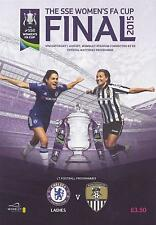 * CHELSEA v NOTTS COUNTY  2015 WOMENS FA CUP FINAL PROGRAMME (1st August 2015) *