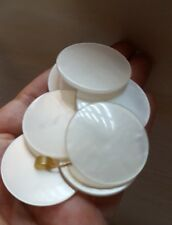 (7) Vintage Large Cream Smooth Buttons, pre-owned, nice condition & Gorgeous