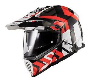 LS2 Blaze Xtreme Dual Sport Helmet Gloss Red/Black/White