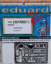Eduard Zoom FE753 1/48 color grabado para el Airfix Boulton Paul Defiant Mk I Kit
