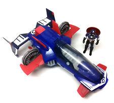 "Marvel Comics Legends Universe CAPTAIN AMERICA 4"" figure & JET FIGHTER toy set"