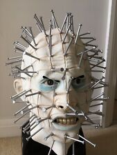 Horror Halloween Hellraiser Pinhead Latex Mask With Real Eyes