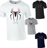 Spiderman Logo T-Shirt Superhero Marvel Comics Avengers Spider Adult & Kids Top