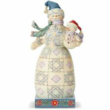 Heartwood Creek Jim Shore 6004140 Bundled in Love Snowman With Snowbaby