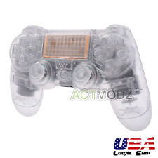 Customized Full Housing Shell Buttons Mod Kits for PS4 Controller Transparent