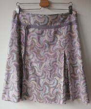 TED BAKER London SKIRT summer floral pleats casual work knee length SIZE 4 UK14