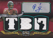 2009 Topps Triple Threads Auto Relics Jersey Red #TTRA37 Josh Freeman RC #/15