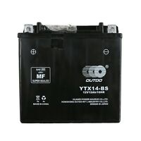 YTX14-BS 12V 12AH AGM BATTERY HONDA ATV QUAD BIKE TRX 300/350/400/420/450/650 ne