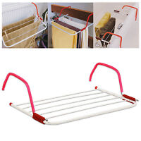 2 x 3M Clothes Drying Rack Airer Washing Laundry Line Hanging Radiator Towel