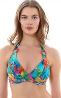 Freya Under the Sea Bikini Top Sizes 34DD 36D Turquoise Red Underwired BNWT
