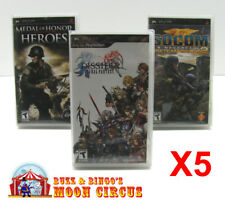 5x SONY PSP GAME CLEAR PROTECTIVE BOX PROTECTOR SLEEVE CASE  FREE SHIPPING!