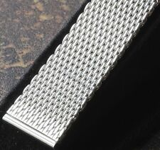 Heavy & thick 2.5mm steel mesh straight-sided band for vintage watch 20mm ends