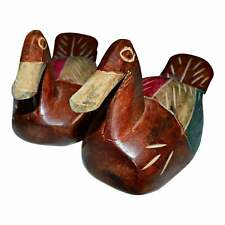 Hand Painted Wooden Carved Decoys/Pair