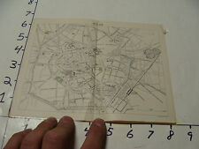 vintag travel paper--SMALL OLD MAP OF MILAN ITALY