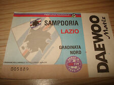 Billet Ticket Série à 1998/1999 Sampdoria Lazio 25/04/1999 Escalier Nord