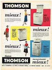 PUBLICITE ADVERTISING  1955   THOMSON   lave linge éléctroménager
