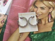 Kendra Scott Silver Filigree Maggie 1.5 Hoop Lightweight Earrings Jewelry