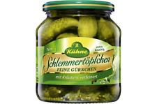 Kühne Schlemmertopf feine Gürkchen mit Käutern 580ml 6er Pack
