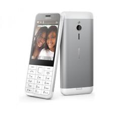 Nokia 230 Dual-SIM Tasten Handy weiß/silber - Handy frei für alle Netze OVP