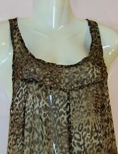 GEORGE LADIES SLEEVELESS SHEER TOP/MINI DRESS WITH SEQUIN UK SIZE 10