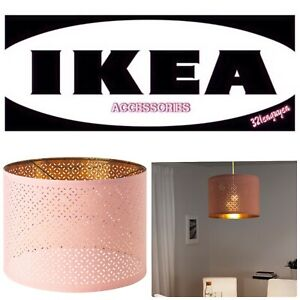 "IKEA NYMÖ Nymo Lamp shade, Pink, Brass color, 17"" BRAND NEW - 304.474.43"