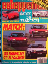revue ECHAPPEMENT 1987 CITROEN AX SUPERPRODUCTION / MVS VENTURI / MAZDA 323 GTX