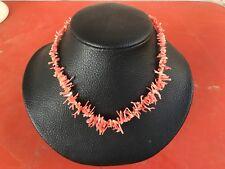 Ancien collier  en corail rose 43 cm/401V7/Former pink coral necklace