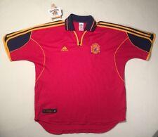 """De Colección Adidas España Español 1999/2001 Camiseta De Fútbol Jersey Xl """"rara España'"""