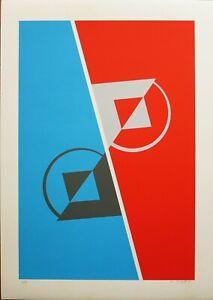 CARMELO CAPPELLO serigrafia 70x50 Struttura 2 firmata numerata anno 1985