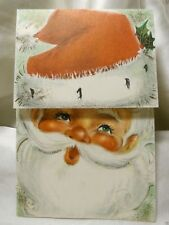 Holiday Seasonal Card Christmas Santa Claus Antique Greetings Gift Post Vintage