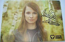 █▬█ Ⓞ ▀█▀  Christina Stürmer Ⓗⓞⓣ Autogramm / Autogrammkarte Ⓗⓞⓣ SEITE AN SEITE
