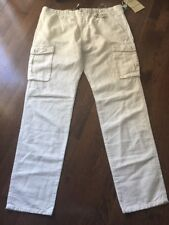 New White Siviglia (Italy) Vintage Canvas Cotone-Lino Men's 38 White Retail $282