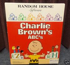 Apple II+ IIe, IIc Charlie Brown ABC's Vintage Software by Random House Software