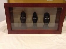 Rare Shadow Box Ancient Alien In Solid Wood Case Thailand Collectible