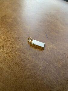CARTIER 1/4 oz 18k Yellow Gold Bar Pendant