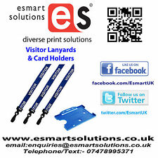 10 x VISITOR Neck Lanyards and Card Holders, BLUE, (FREE P&P)