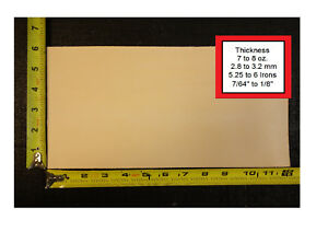 """12"""" x 6"""" Vegetable Tanned Cowhide 7 to 8 oz. Tooling Leather Piece 1st. Qlty"""