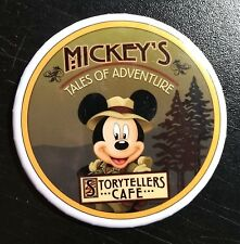 "MICKEY'S STORY TELLERS DISNEYLAND 3"" Button Pin Disney Souvenir FREE SHIPPING"