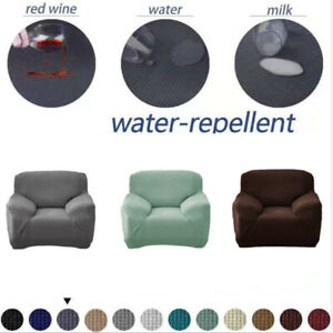 1/2/3/4 Spandex Sofa Covers 4 Seater Waterproof Couch Cover Slipcovers Chair L