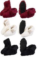 Chicas Slenderella Imitación Piel Zapatilla Botas Zapatillas de mujer de lana estilo Loungewear