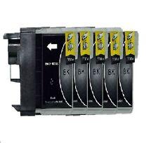 5 schwarze Patronen für Brother DCP195C DCP165C DCP375CW MFC250C LC980 LC1100