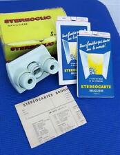 Vintage Stereoclic Super Green Plastic Stereoviewer in Box 1960's