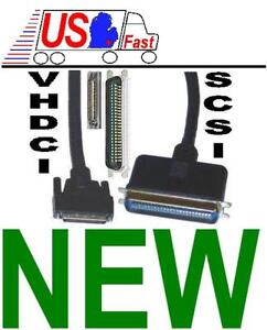 6ft long ULTRA .8mm 68pin VHDCI~Centronics 50pin external SCSI Cable/Cord/Wire